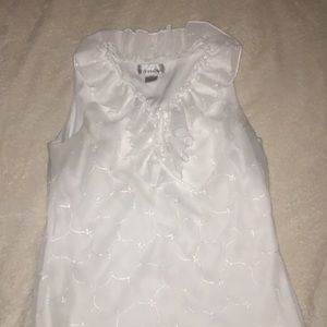 Dress Barn size S white dress top